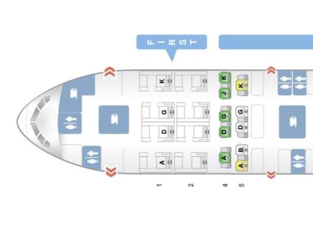 Swiss First Class Boeing 777-300ER Sitzplan &copy Seatguru