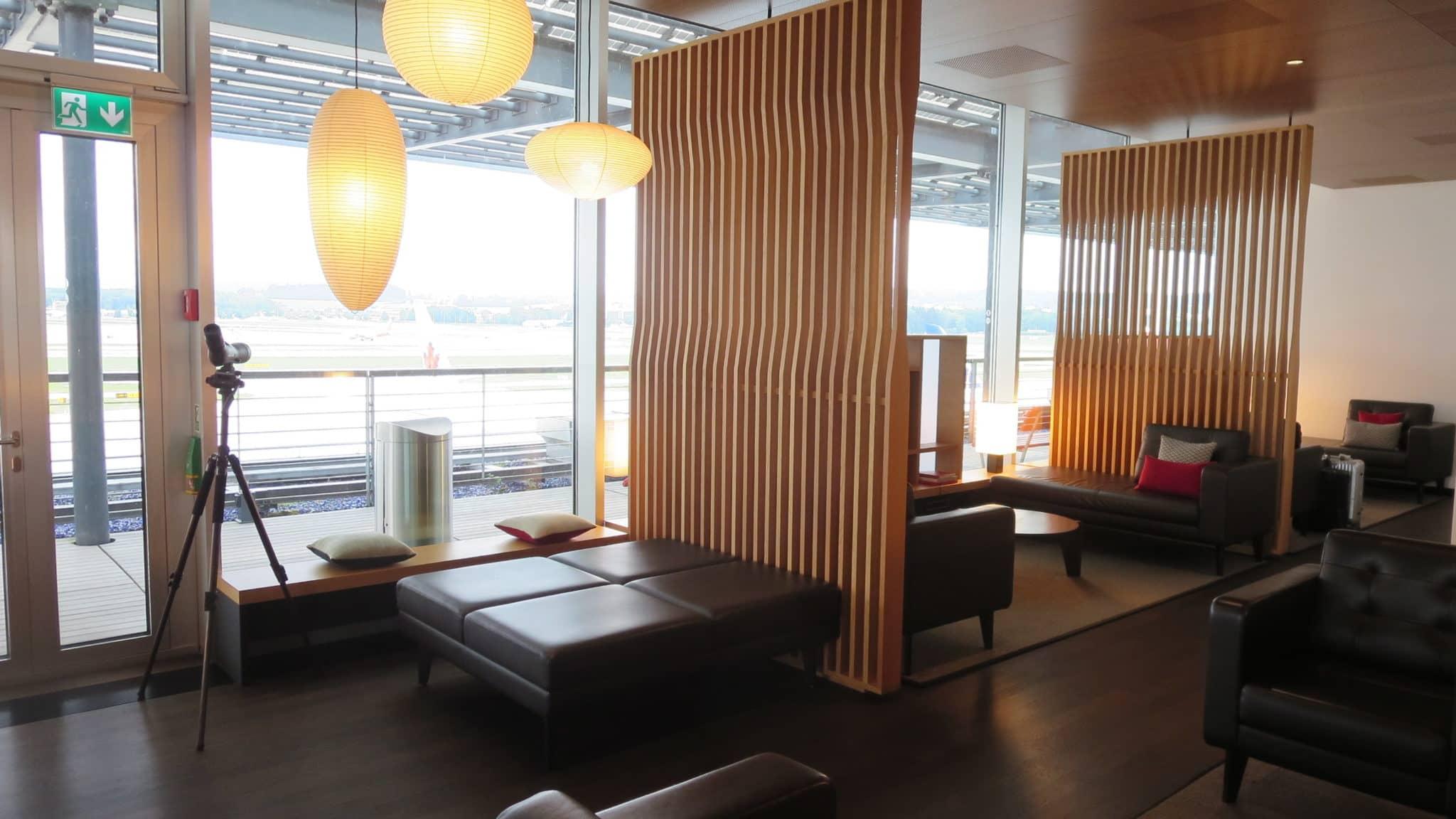 Swiss First Class Lounge Zürich E Fernglas