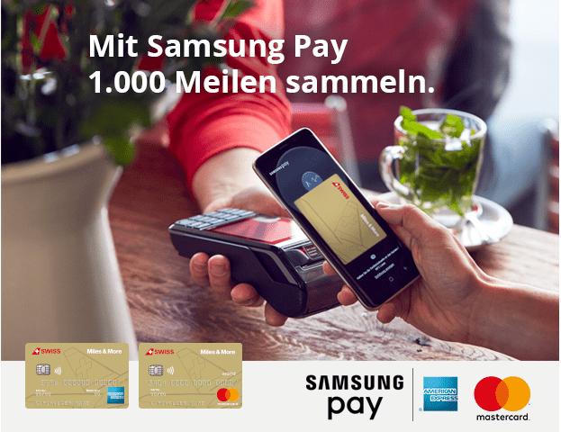 1.000 Meilen für das Einrichten von Samsung Pay mit euren SWISS Miles & More Kreditkarten - Viel einfacher geht nicht
