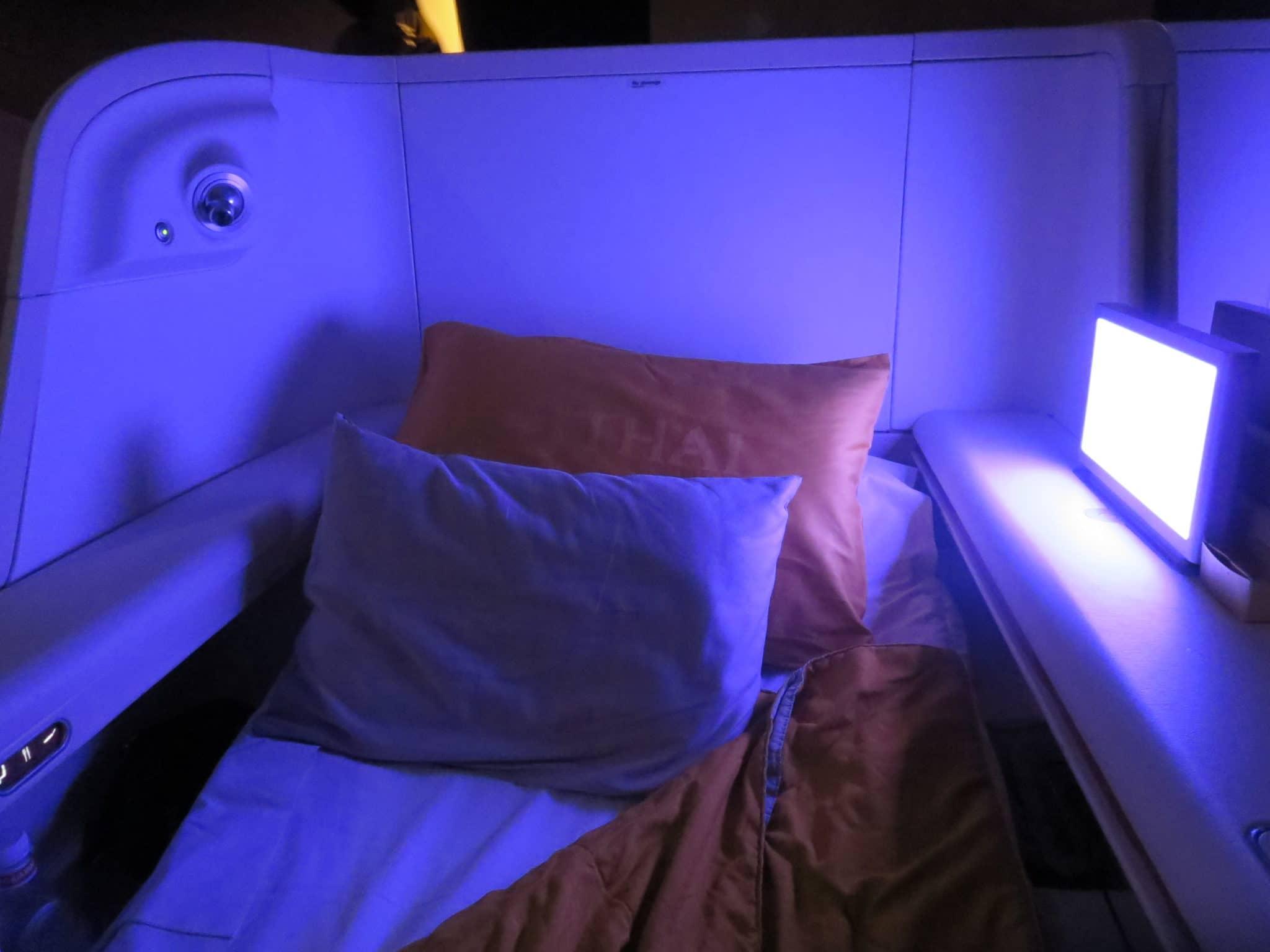 Thai Airways First Class Bett A380