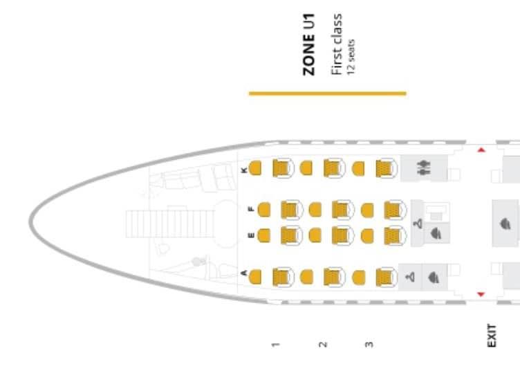 Sitzplan der Thai Airways First Class im A380 &copy Thai Airways