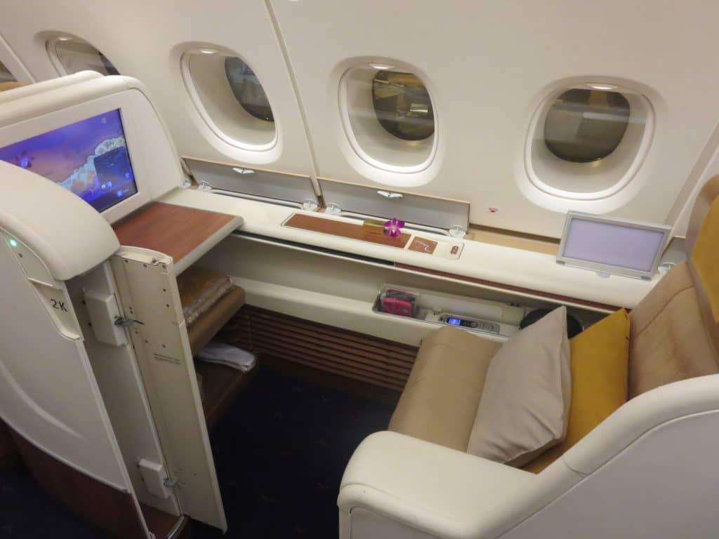 Thai Airways First Class A380 Sitz