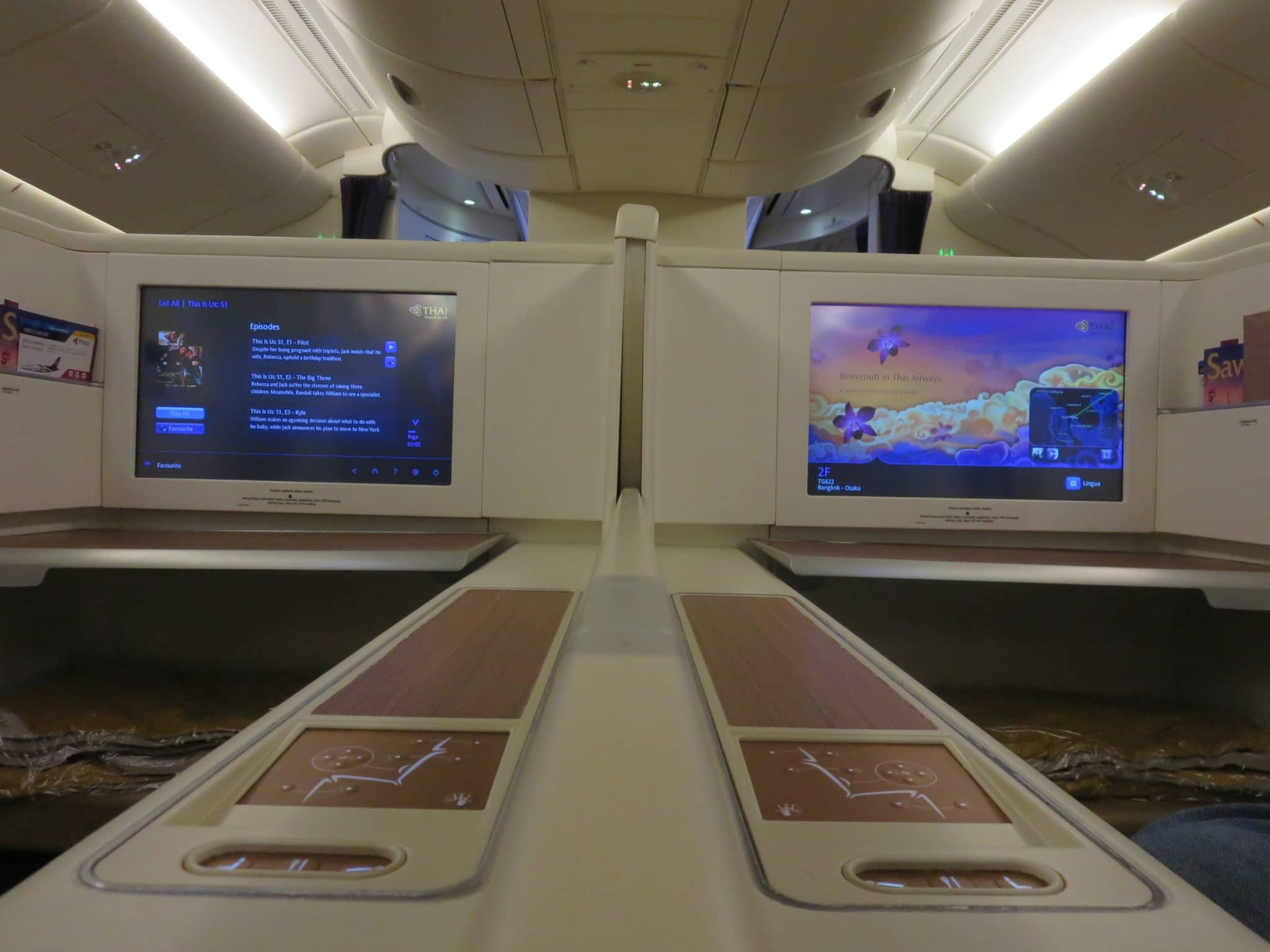 Thai Airways First Class A380 Mitteltrennung