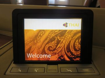 Thai Airways First Class Boeing 747 Touchscreen