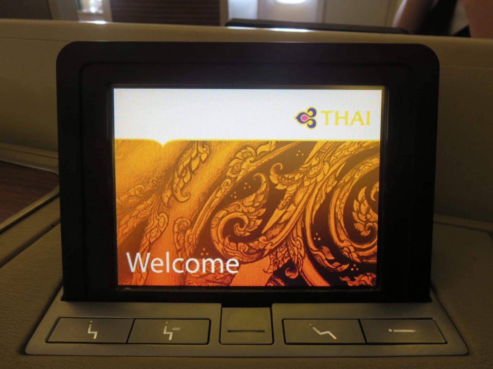 Thai Airways First Class Boeing 747 Touchscreen