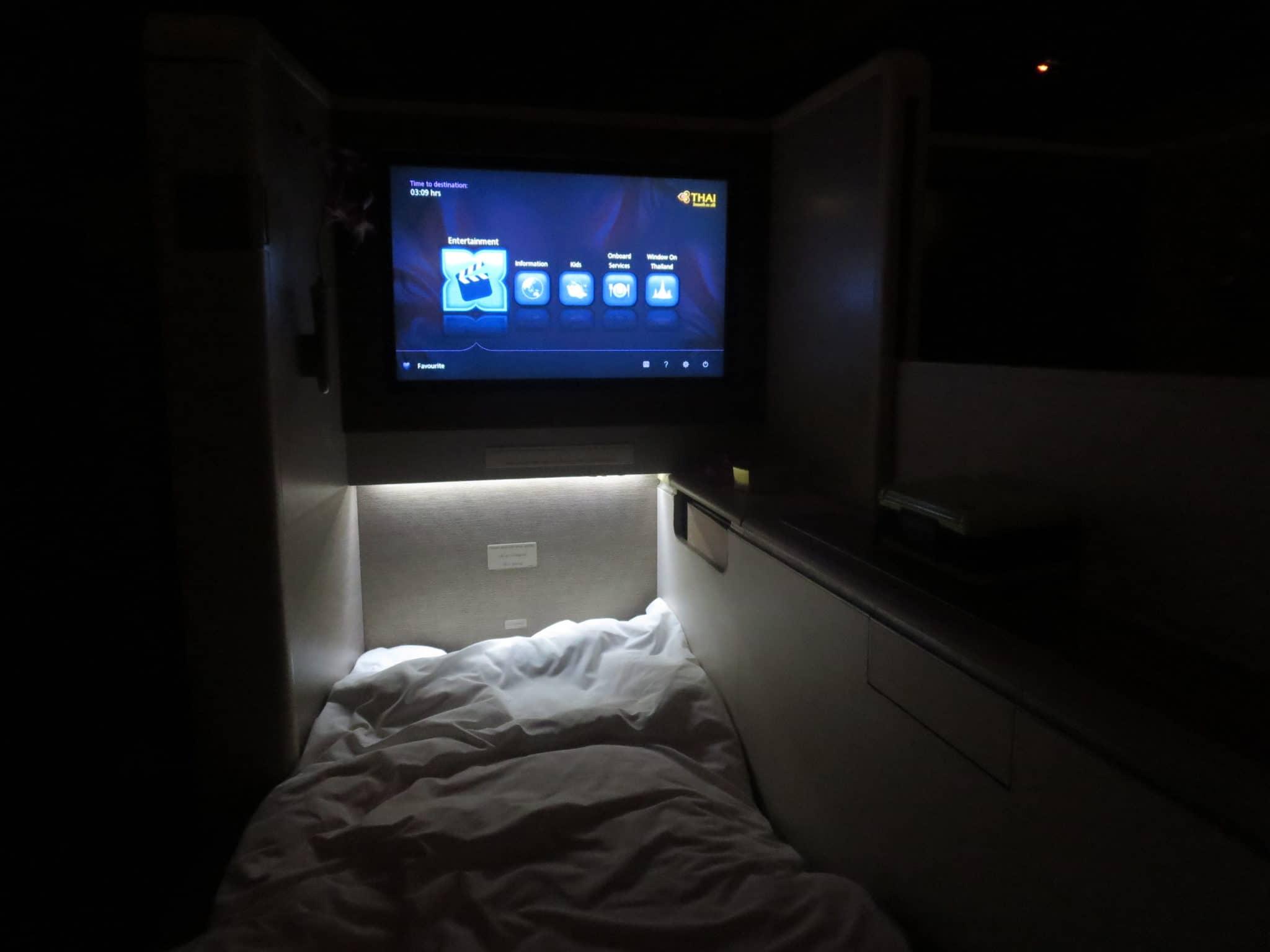Thai Airways First Class Bett Boeing 747