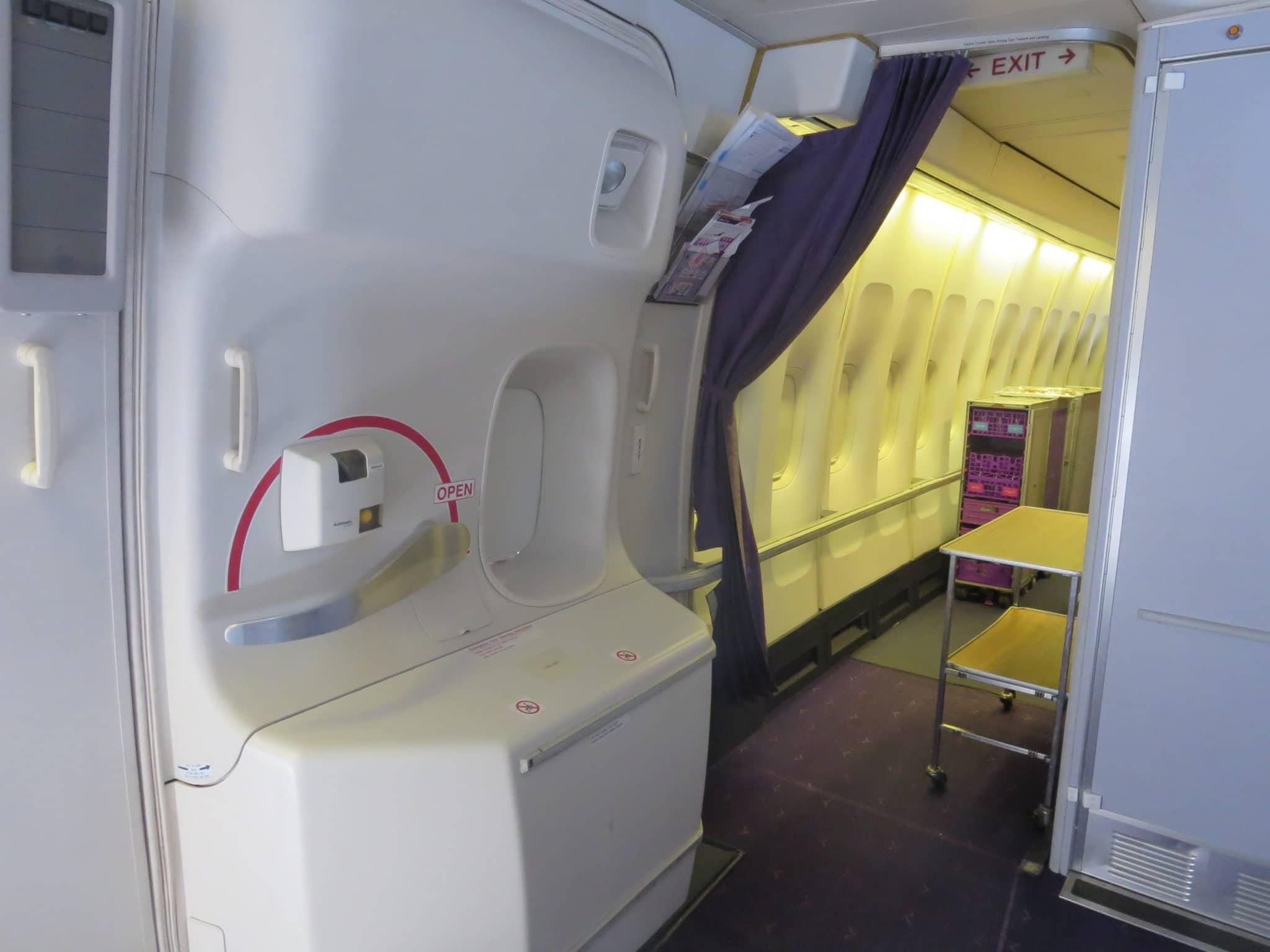 Thai Airways First Class Boeing 747 Galley