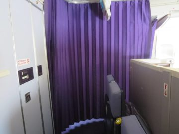 Thai Airways First Class Boeing 747 Abtrennung