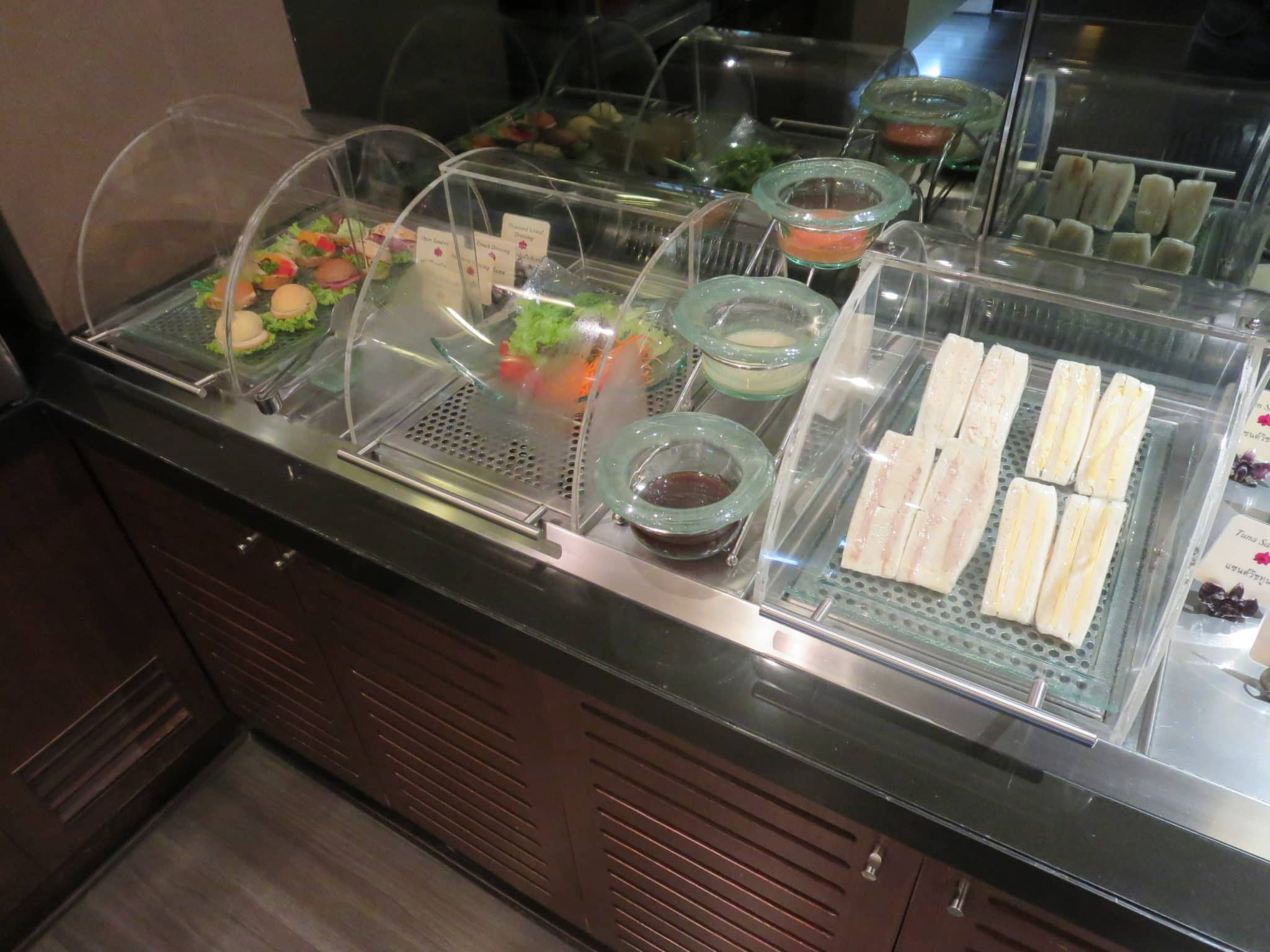 Thai Airways First Class Lounge Buffet