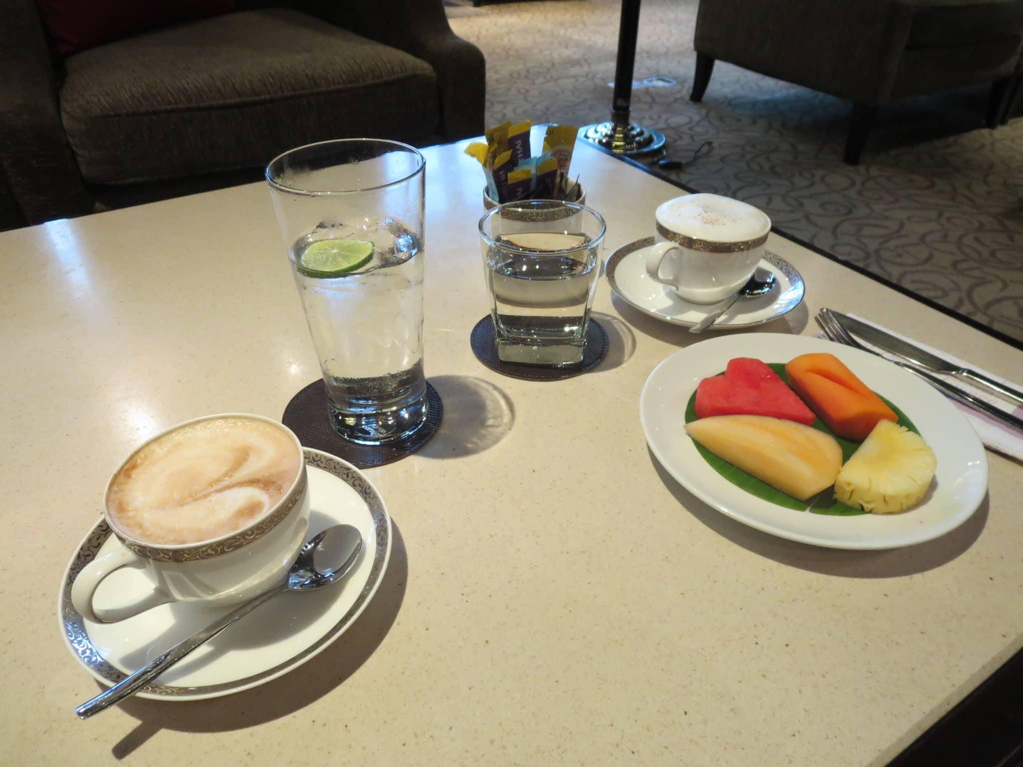 Thai Airways First Class Lounge Kaffee