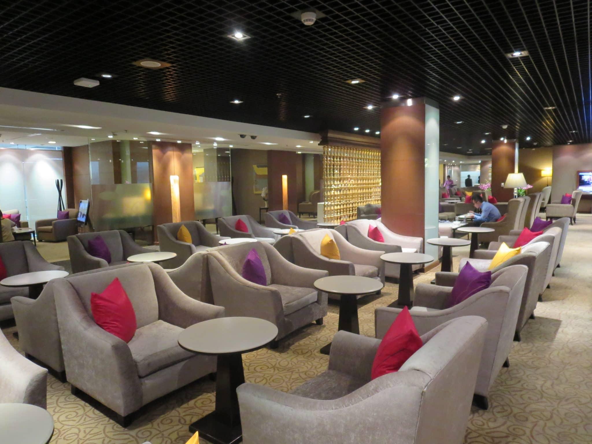 Thai First Class Lounge Sitzgelegenheiten