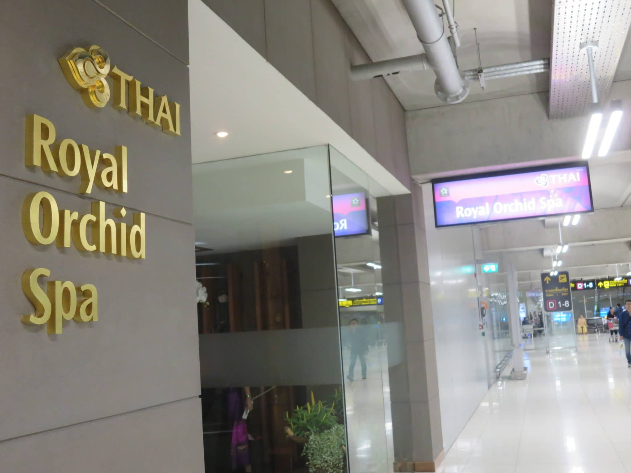 Thai Airways Royal Orchid Spa Bangkok Airport