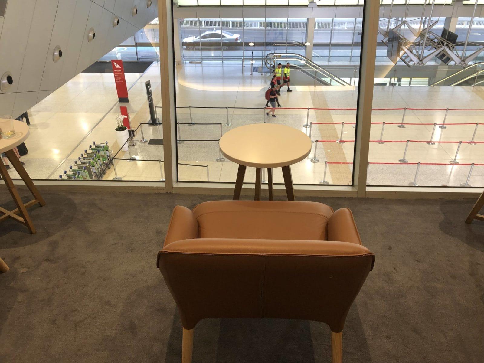 The Qantas Club Melbourne Eingangshalle
