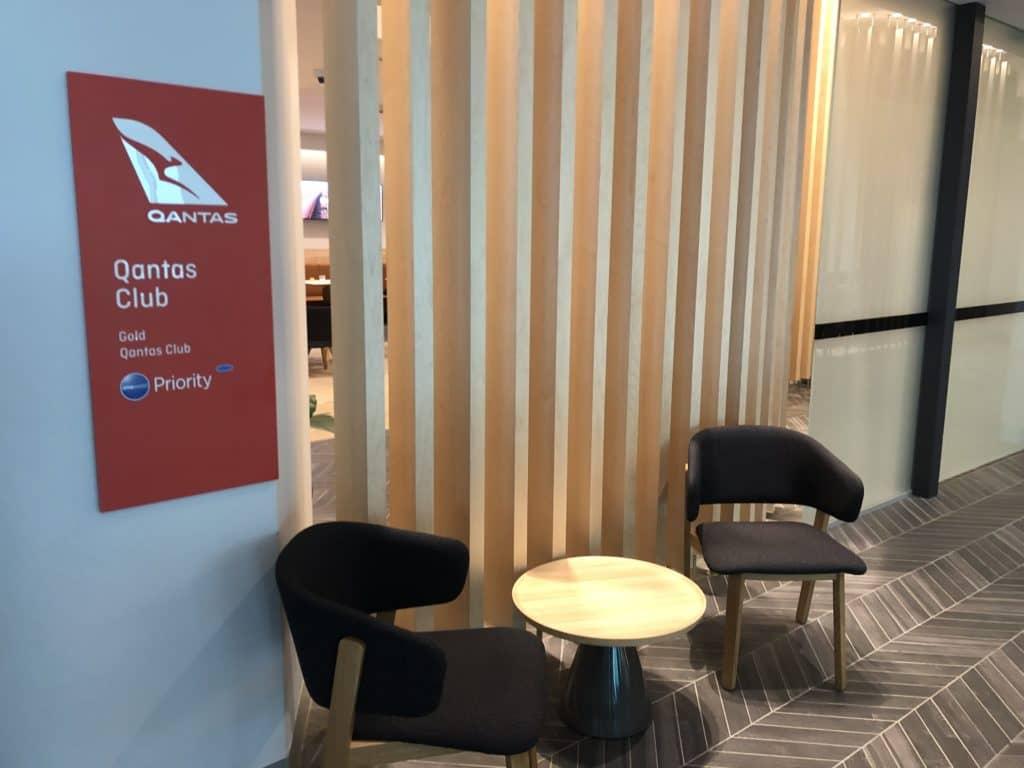 Eingangsbereich des Qantas Club Melbourne