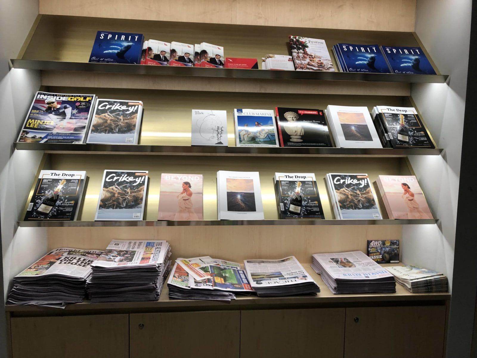 The Qantas Club Melbourne Zeitschriften und Zeitungen
