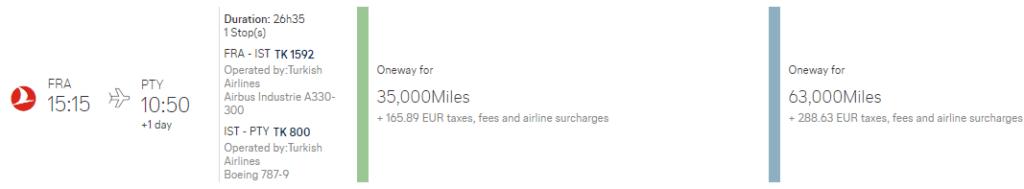 Mitte Oktober für 2 Personen von Frankfurt über Istanbul nach Panama City