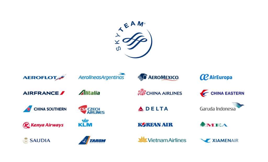 Übersicht Buchungsklassen aller SkyTeam Airlines