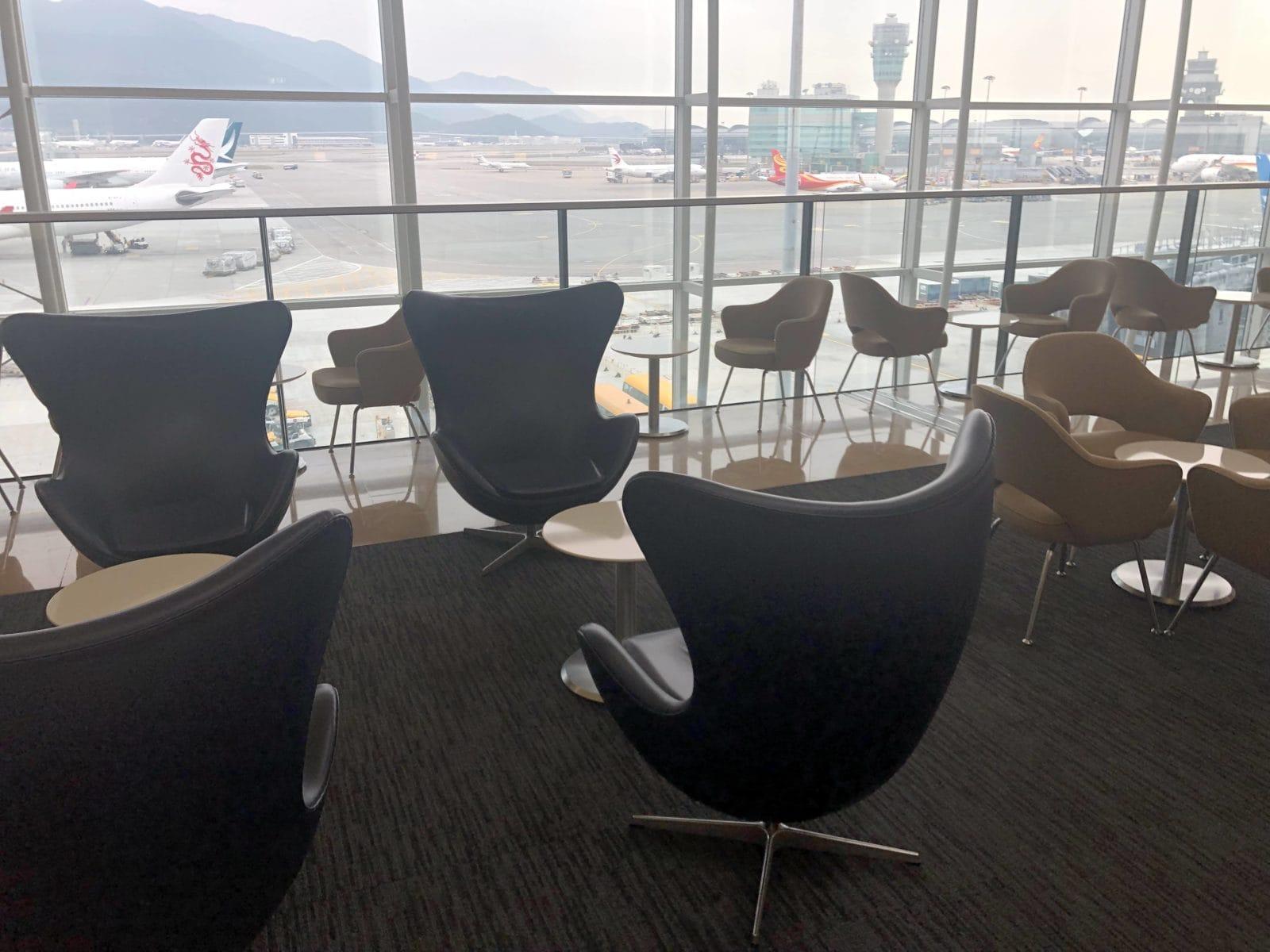 United Club Hong Kong Blick auf Runway