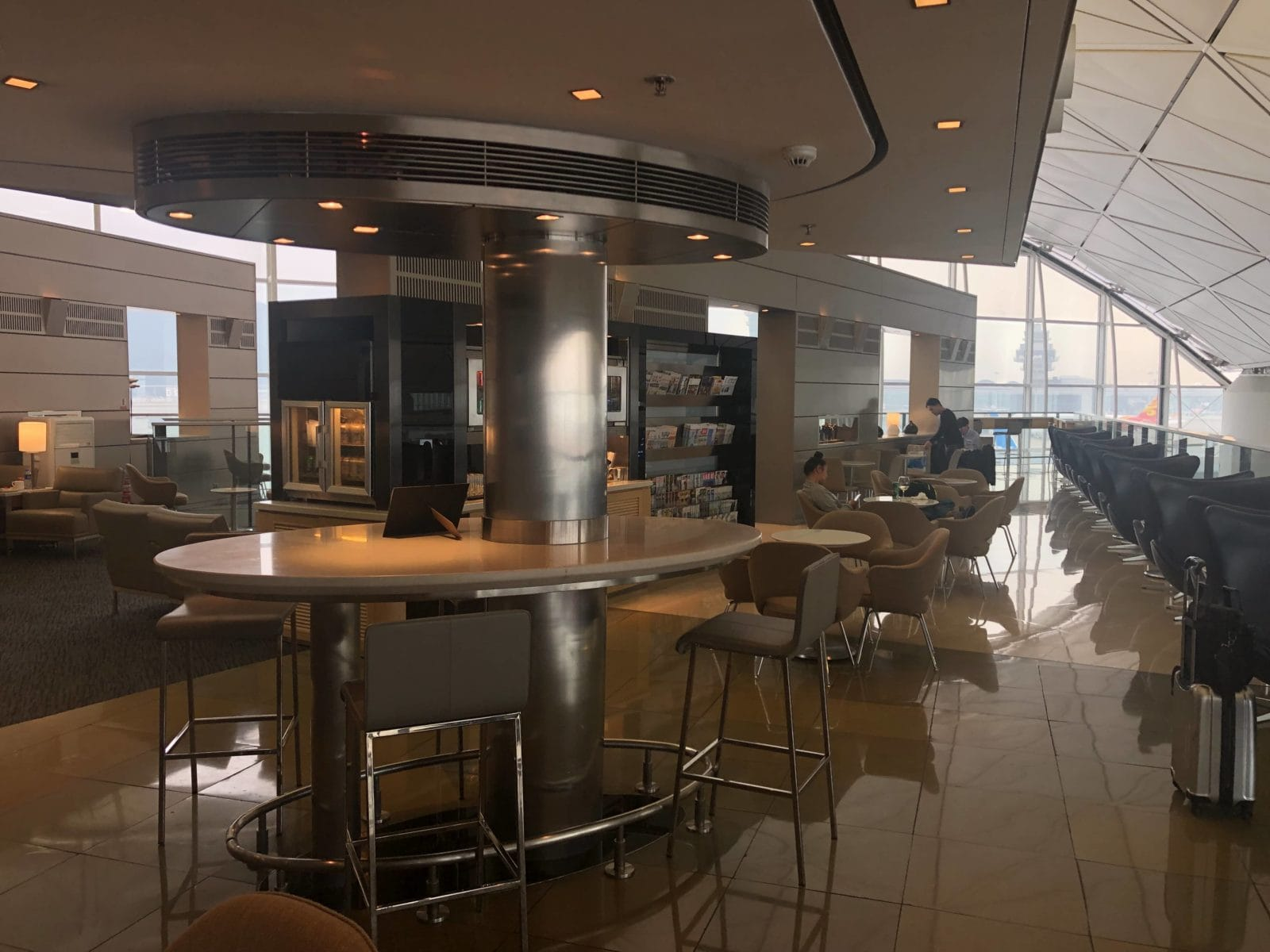 United Club Hong Kong Blick in die Lounge