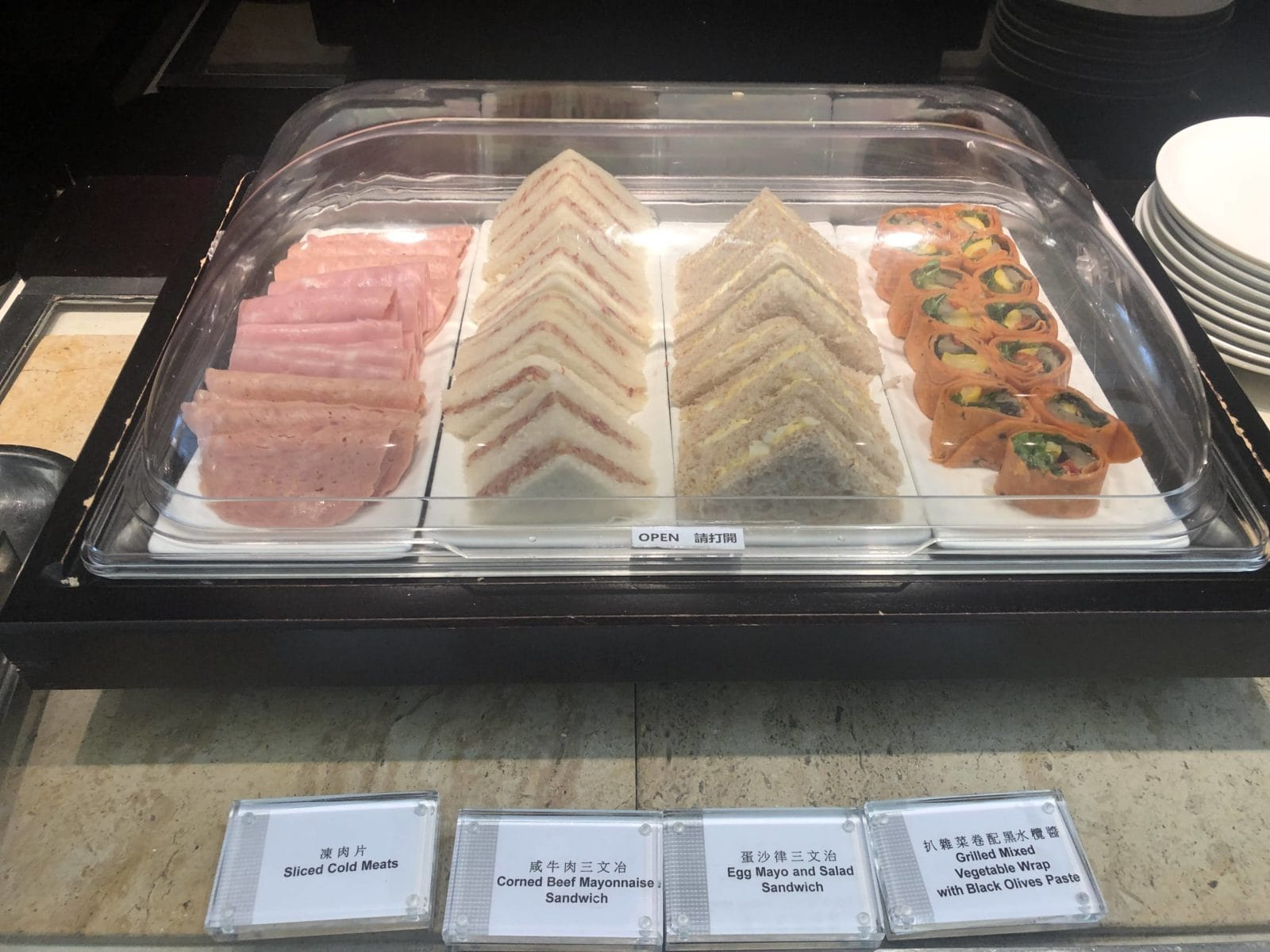 United Club Hong Kong Sandwich und Wraps