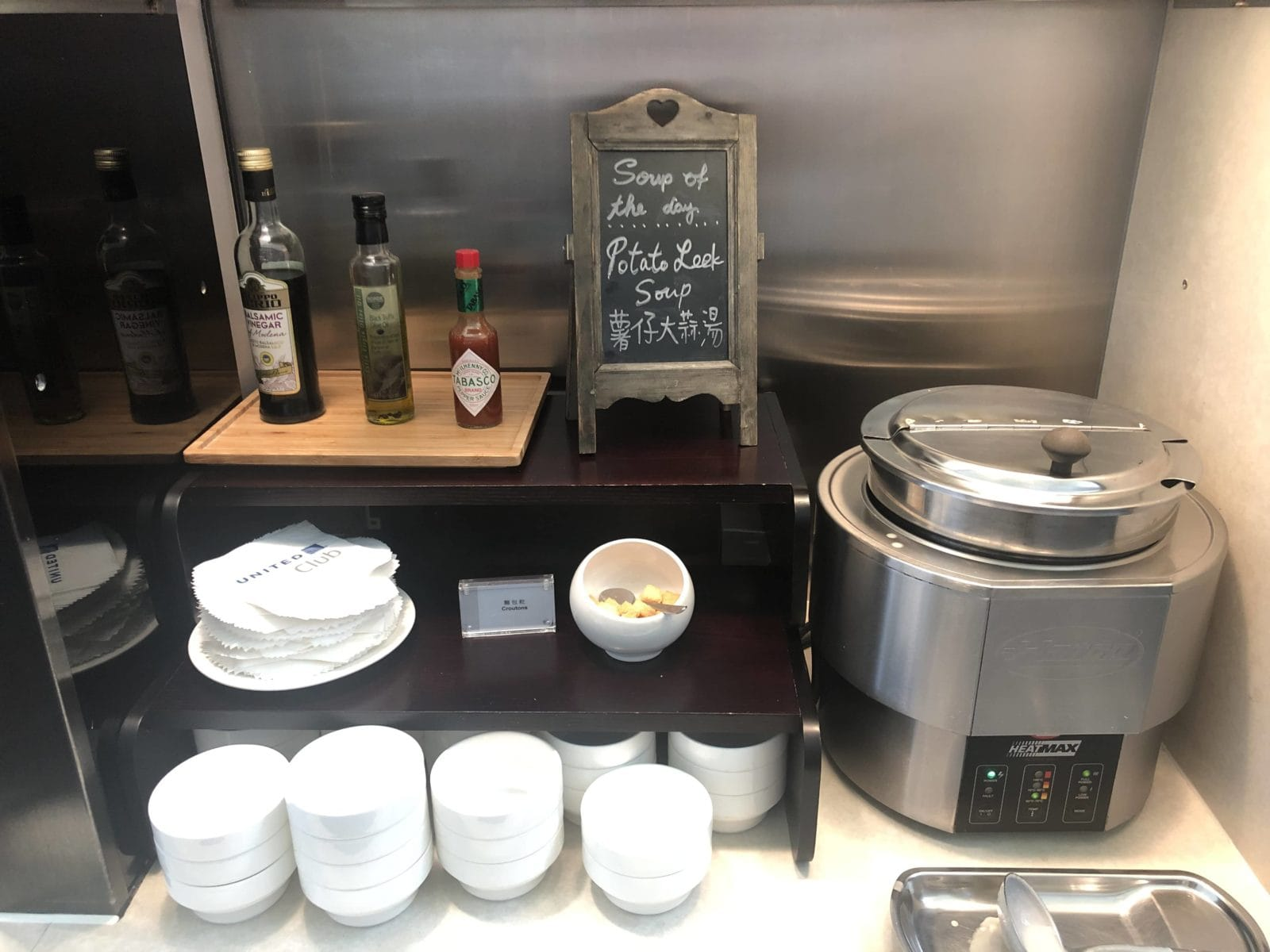 United Club Hong Kong Suppe des Tages
