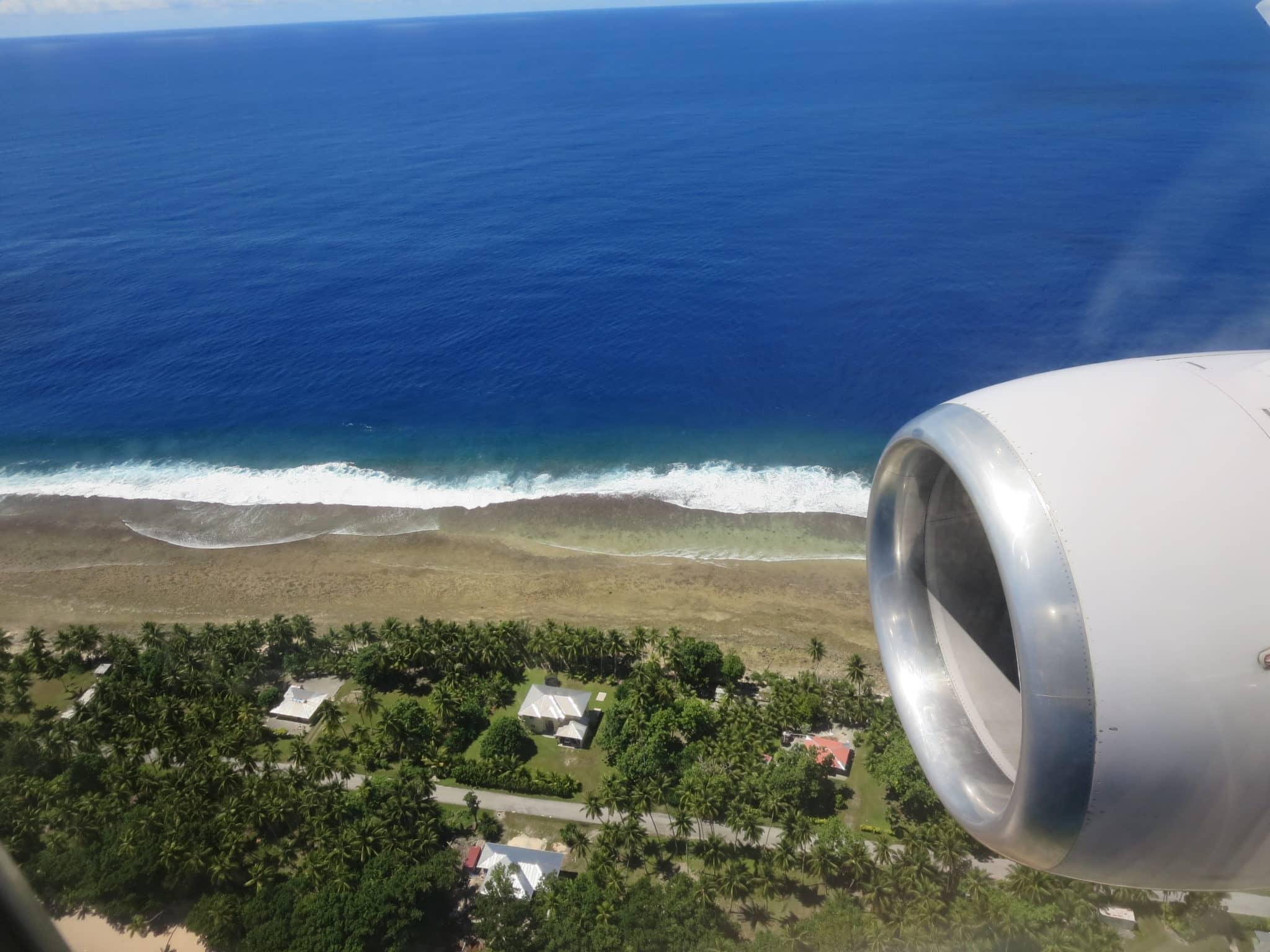United Island Hopper Landeanflug Majuro