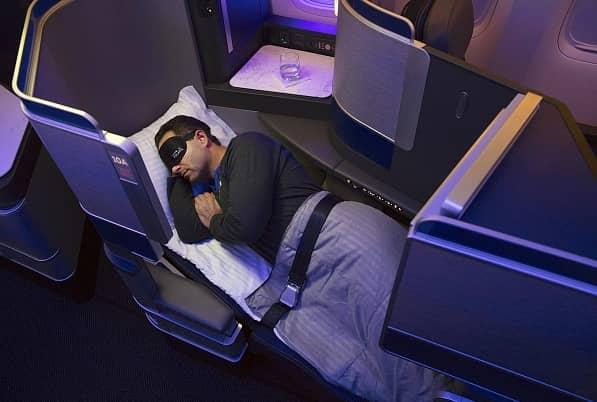 Flatbed in der United Polaris © United Airlines