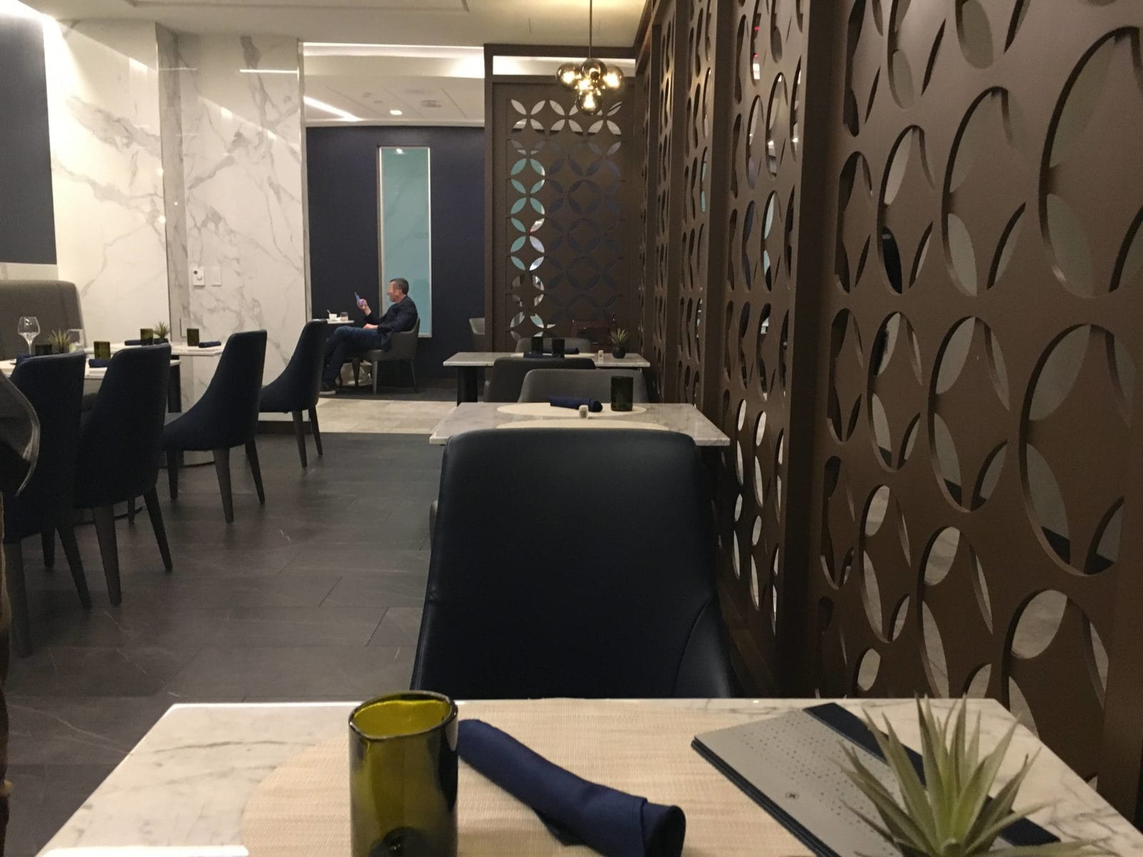 United Polaris Lounge LAX - Dining Room