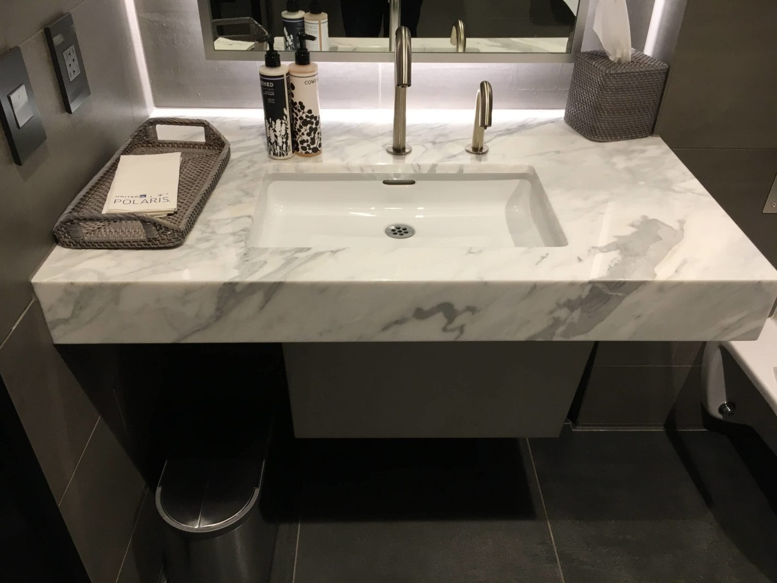 United Polaris Lounge LAX - Waschbecken