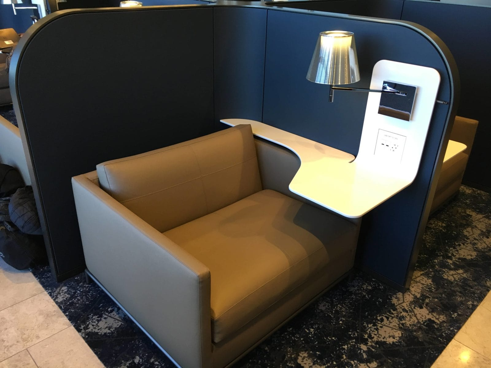 United Polaris Lounge LAX - Kabine