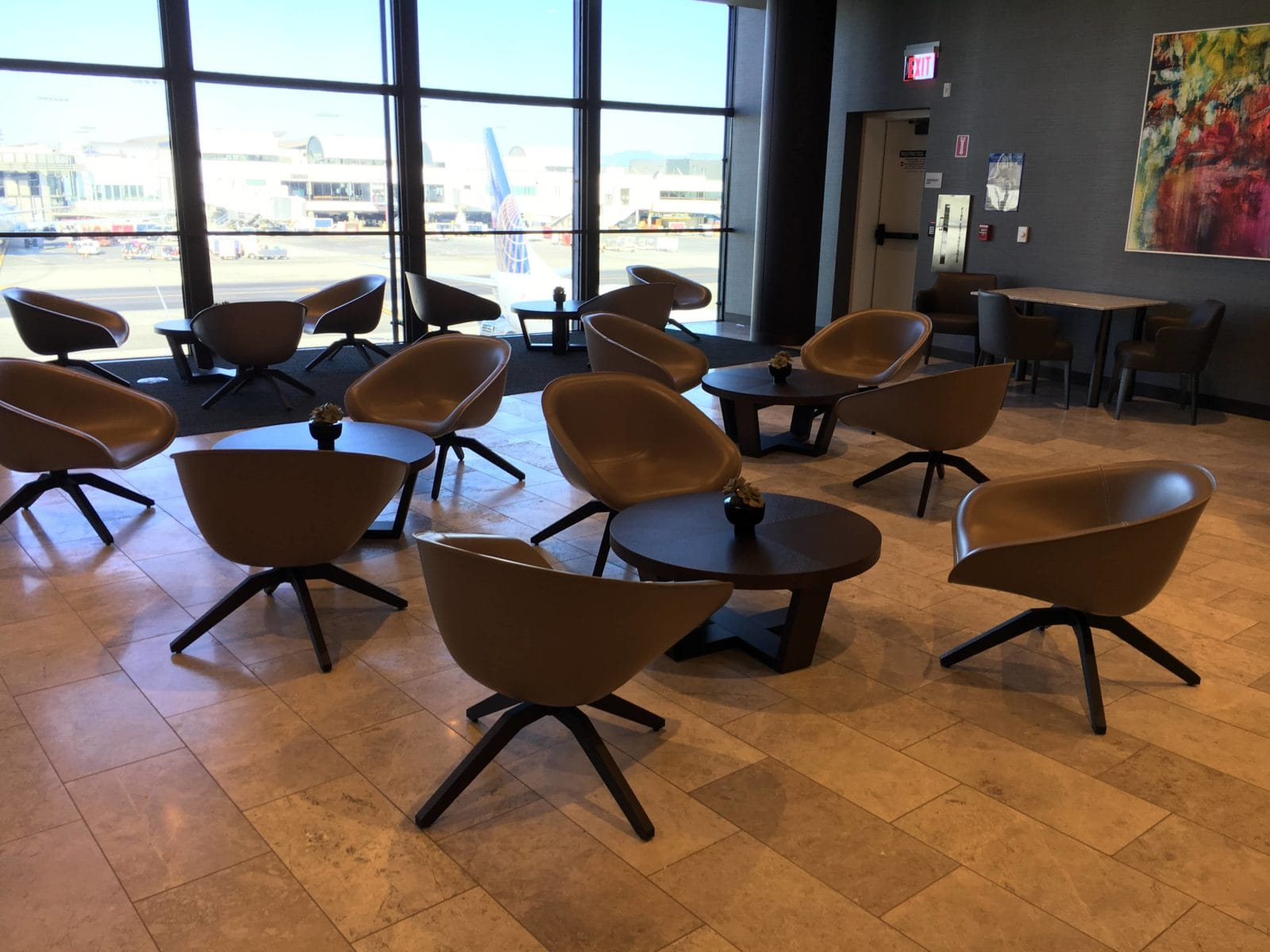 United Polaris Lounge LAX - 3er Sitzgruppe